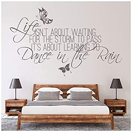 DANCE IN THE RAIN WALL QUOTE DECAL STICKER VINYL HOME LETTERING HOME DECOR