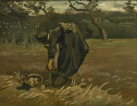 Van Gogh Couple Costume ('Vincent Van Gogh,Peasant Woman Digging Up Potatoes,1885' Oil Painting, 30x39 Inch / 76x99 Cm ,printed On Polyster Canvas ,this Amazing Art Decorative Canvas Prints Is Perfectly Suitalbe For Basement Decoration And Home Artwork And Gifts)