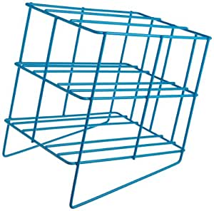 """Bel-Art Scienceware 189420000 Poxygrid Pasteur Pipette Wire Can Rack, 7-1/2"""" Length x 5-1/2"""" Width x 7-5/8"""" Height, 4 Places Pipette"""