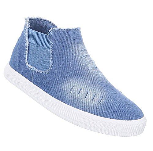 Damen Schuhe Freizeitschuhe Sneakers Hellblau