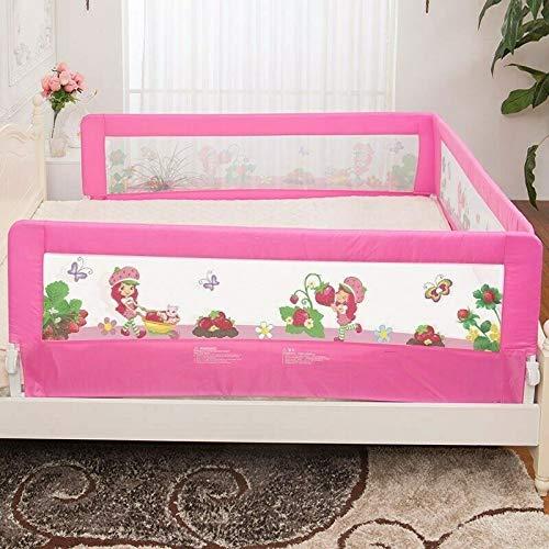 Barriera Letto Pieghevole sponda Letto Sbarra Letto per Bambini 1.5M Barriera di Sicurezza//Protezione Removibile Sponda di Sicurezza Portatile Letto Protezione Universale Rosa 150 x 65cm