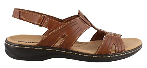 790805344703 Clarks Womens Leisa Vine Leather Open Toe Casual Ankle Strap