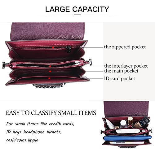 RenDian Crossbody Purse for Women-Cell Phone Wallet Bags Over the Shoulder Handbags for Travel/Leisure/Dating by RenDian (Image #3)