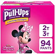 Huggies  Pull-Ups Learning Designs Potty Training Pants for Toddler Girls, 2T-3T (18-34 lb.), 94 Ct. (Packaging May Vary)