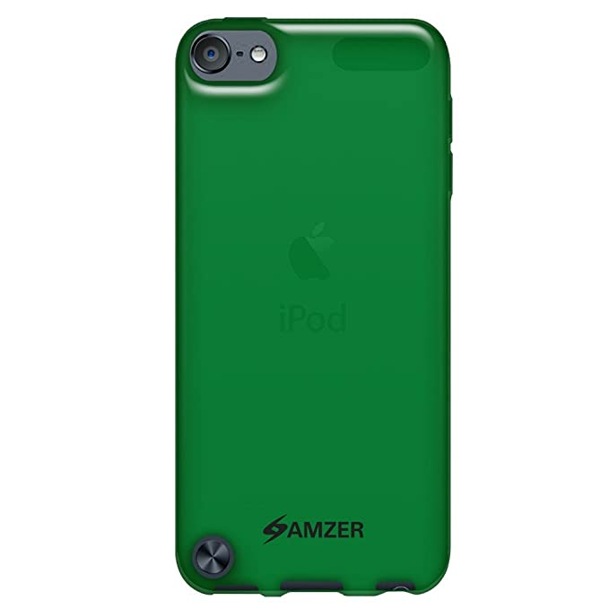 Translucent Red Amzer Soft Gel TPU Gloss Skin Fit Case Cover for Apple iPod Touch 5th Generation