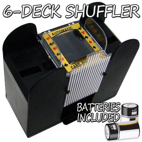 Brybelly Holdings GSHU-003.Free-10 6 Deck Playing Card Shuffler with Batteries from Brybelly Holdings