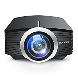 Projector, GooDee Mini Portable Projector 1600 Luminous Efficiency Home Cinema Theater Movie Video Projector Support Multimedia HDMI USB for Home Entertainment Games