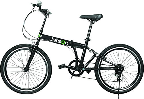 Jetson Bike-to-Go Folding Bicycle – 24″ inch Wheel, 7 Speed, Rear Hydraulic Shock Suspension, Foldable Pedals, Aluminum Alloy Bike Frame