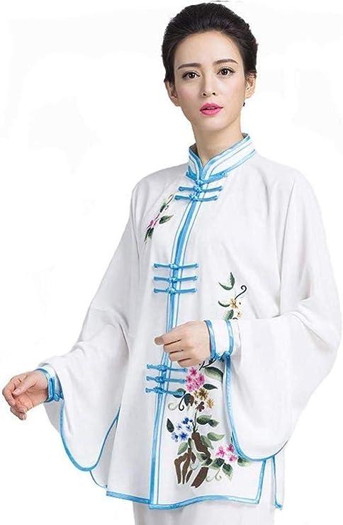 WYUKN Taichi Hombre,Ropa Principiantes Mujeres Tai Chi Uniforme Bordado Retro Chino Tradicional Tai Chi Traje Kung Fu Ropa Tang Traje Marcial Tai Chi Ejercicio Artes Wear,C-Small: Amazon.es: Hogar