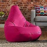 Hi-BagZ Outdoor High Back Bean Bag Chair - Pink - Water Resistant, Weather Proof Garden or Indoor Gamer Bean Bags