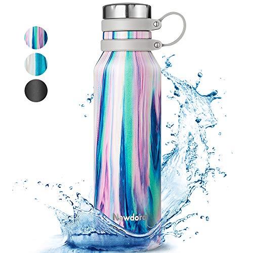 🥇 Newdora Botella de Agua Acero Inoxidable 750ml