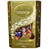 Lindt Lindor Assorted Chocolate Truffles, Value Pack, 900gram/1.98pound. Assortment of 4 Flavors of Chocolate Truffles : Hazelnut, Milk, White and Dark