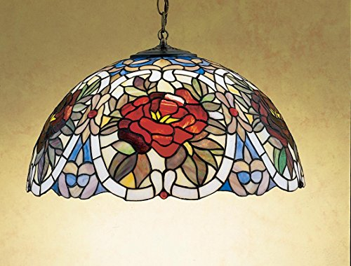 (20 Inch W Renaissance Rose Pendant , Ceiling Fixture , Meyda)