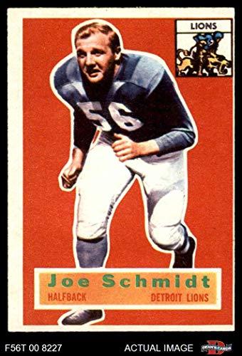 Joe Schmidt Detroit Lions - 1956 Topps # 44 Joe Schmidt Detroit Lions (Football Card) Dean's Cards 5 - EX Lions