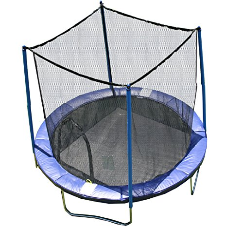 Airzone Outdoor Spring Trampoline With Mesh Padded Perimeter Safety Enclosure Multiple Sizes