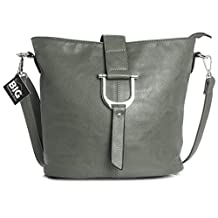 Big Handbag Shop Womens Faux Leather Bucket Style Cross Body Shoulder Bag