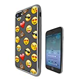 c00933 - Smiley Emoji Funny Heart Love Sunglasses Shit Poop Laughter Faces App Design iphone SE / iphone 5 5S Fashion Trend CASE Black & Clear Gel Rubber Silicone All Edges Protection Case Cover