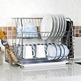 Hyun times Dimensions of space-end wall 304 stainless steel double bowl kitchen shelving rack Drain rack dish rack Wall
