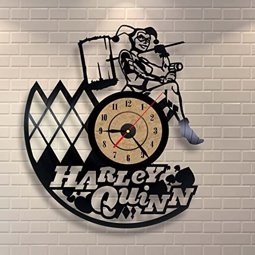 Gullei.com Vinyl Clock Harley Quinn Wall Decoration Gift for Him or Her