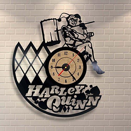 Gullei.com Vinyl Clock Harley Quinn Wall Decoration Gift
