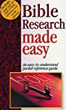 Bible Research Made Easy, Mark Water, 1565631102