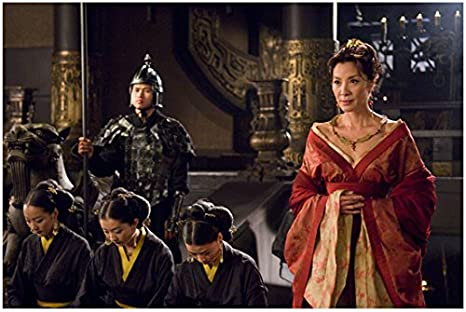 The Mummy Tomb Of The Dragon Emperor 2008 8 Inch X10 Inch Photo Michelle Yeoh Lovely In Orange Red Dress Next To Bowing Asian Women Kn At Amazon S Entertainment Collectibles Store