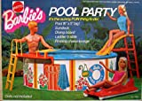 Barbie POOL PARTY Playset w Pool, Sundeck, Diving Board & MORE! (1973 Mattel Hawthorne)