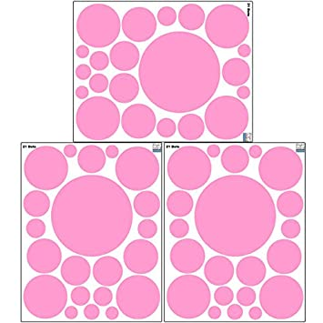 Create A Mural : Pink Polka Dot Wall Decals