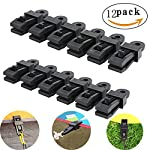 12pcs Clamp Tarp Clips Awning Clamp Set Trap Clips Jaw Tent Snaps hangers Camping Clamp Clips Tent Tighten Lock Grip For Outdoors Camping Farming Garden