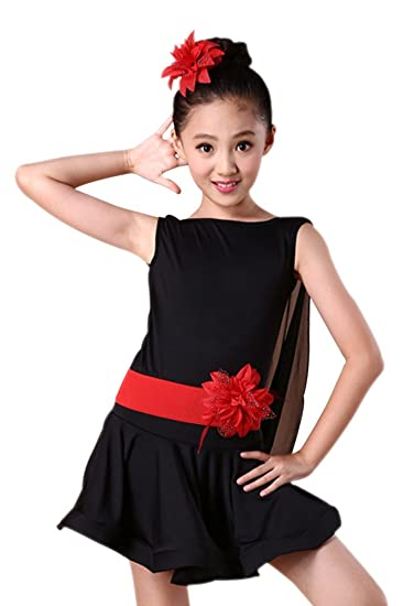 b5e731dc1b6 KINDOYO Latina Tango Salon De Baile Salsa Vestido Traje de Danza Niñas:  Amazon.ca: Clothing & Accessories