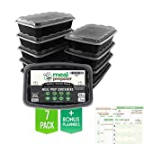MEAL PREPSTER Meal Prep Containers (1-Compartment) - Reusable Microwavable ...
