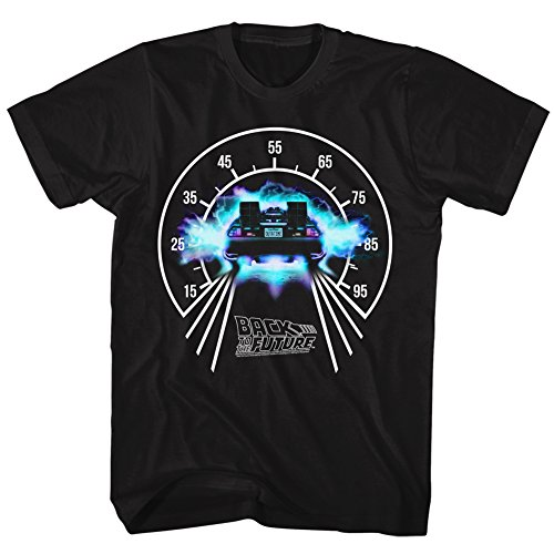 2Bhip Back to The Future 80s Syfy Speedometer Comedy Spielberg Movie Adult T-Shirt Black