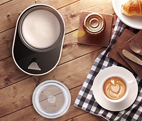 Milk Frother Aicook, Electric Milk Steamer with Hot/Cold Milk Foaming Functions, 4 Modes, 360° Lighting Base with Silicone Scraper, Automatic Milk Frother and Warmer for Coffee, Latte, Cappuccino by AICOOK (Image #6)