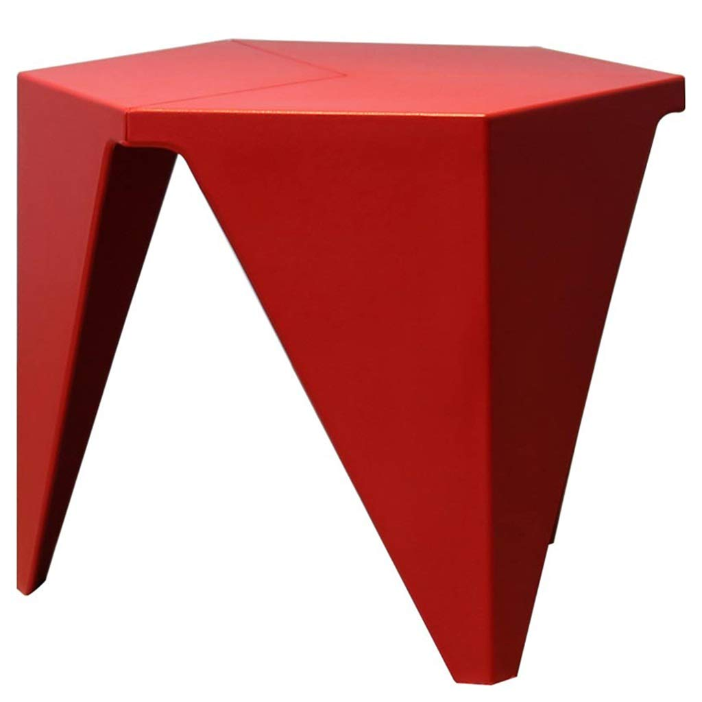 LQQGXLBedside Table Creative Hexagonal Table Living Room Studio Hotel Personalized Table Small Side Table (Color : Red) by LQQGXL