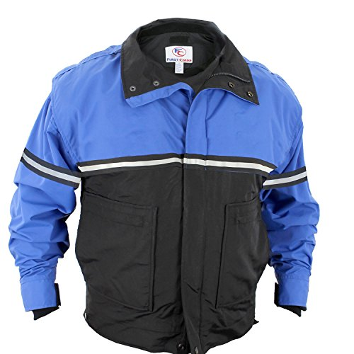 First Class 100% Polyester Bike Patrol Jacket XL Royal Blue with Black