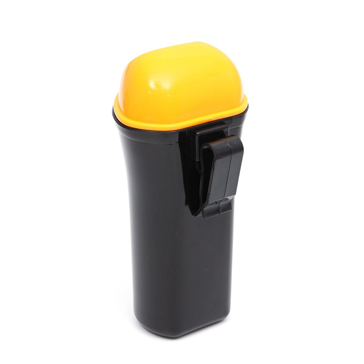 VORCOOL Mini Cubo de Basura de Coche Port/átil Prueba de Fugas Papelera Peque/ña de Veh/ículo con Gancho Amarillo