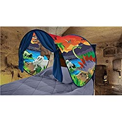 Baring Kids Pop Up Bed Tent Dream Tent Fairy Playhouse Play Tent Mosquito Net Bedroom Festival Decoration Tent (Unicorn dinosaur)