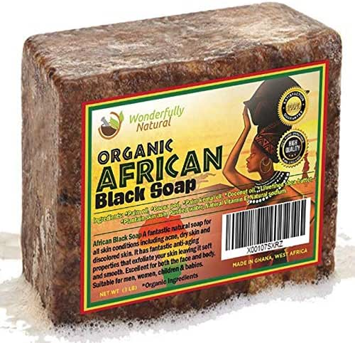 African Black Soap 1 Pound Bar | #1 Acne Treatment | Eczema Soap | 60 day Satisfaction Guarantee