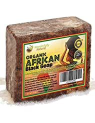 Wonderfully Natural African Black Soap Bar | 100% Organic...