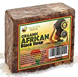 #6: Wonderfully Natural African Black Soap Bar | 100% Organic 1lb | Black soap Acne Treatment | Eczema Natural Soap | 60 day Satisfaction Guarantee