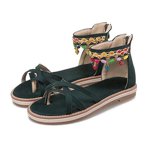 Sandales Femmes JOJONUNU Ouvert Ete Bout Green TI11xZ