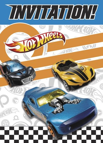 Hot Wheels Invitations, 8ct (Hot Wheels Party Invitations compare prices)