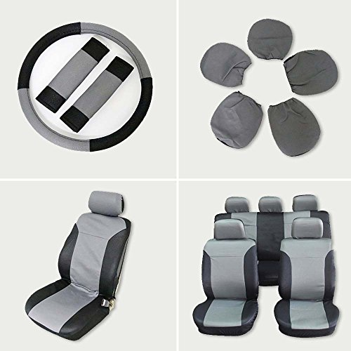 Car Seat Cover,Stretchy Universal Seat Cushion w/Headrest/Steering Wheel/Shoulder Pads 100% Breathable Automotive Accessories with Durable Washable Embossed cloth for Most Cars Trucks (Chevrolet Pickup 2 Wheel Drive)