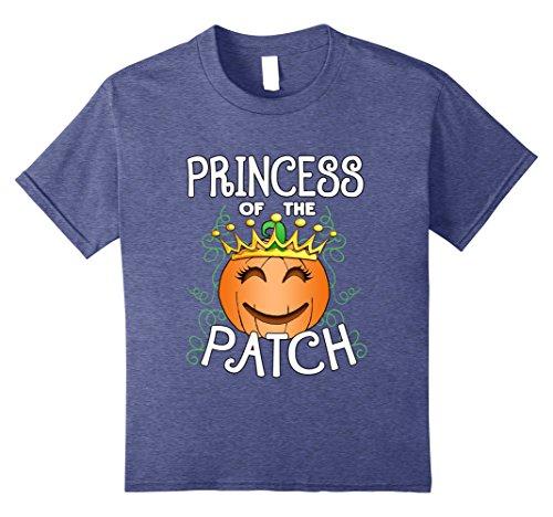 Pumpkin Patch Princess Costumes (Kids Halloween Pumpkin Princess of The Patch T Shirt 8 Heather Blue)