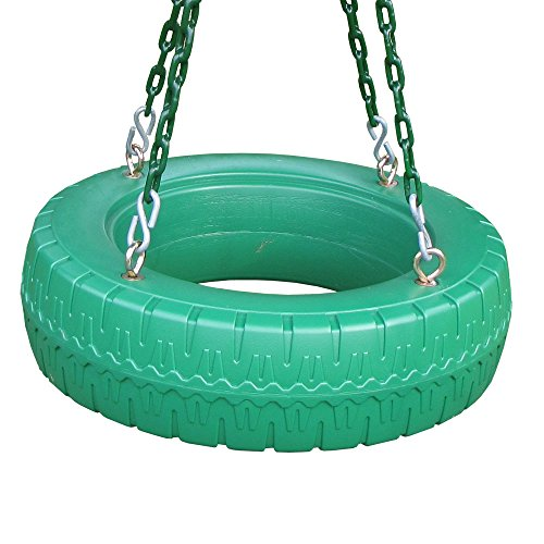 Creative Playthings Single Axis Tire Swing with Chain