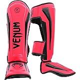 Venum Elite Standup Shinguards, Neon Pink, Large