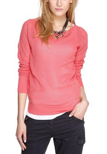 s.Oliver - Jersey con capucha de manga larga para mujer Rosa (Candy Rosé)