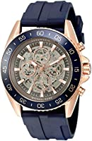Michael Kors Watches JetMaster Silicone Skeleton Automatic Watch