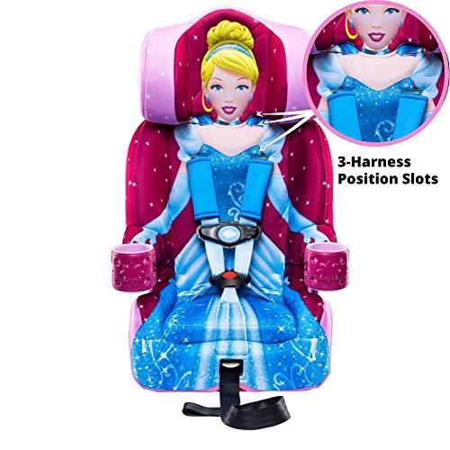 517VdQwwJbL - KidsEmbrace 2-in-1 Harness Booster Car Seat, Disney Princess Cinderella, Pink