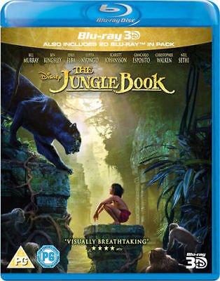 The Jungle Book [3D Blu-Ray + Blu-Ray] [2016 2 Disc Set]